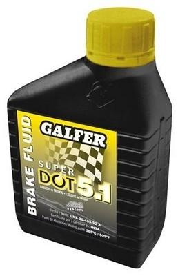 Liquide de frein Galfer : DOT 4 et DOT 5.1.