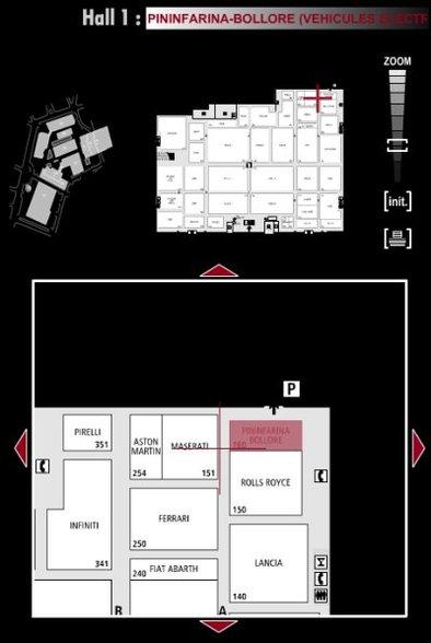 Guide des stands : Pininfarina-Bollore - Hall 1