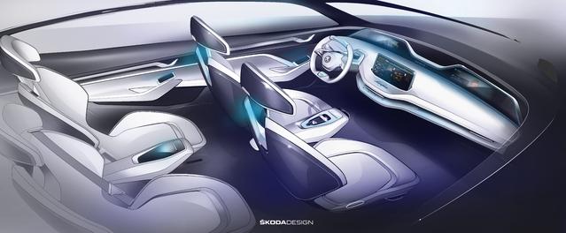 Skoda dévoile l'intérieur du concept Vision E