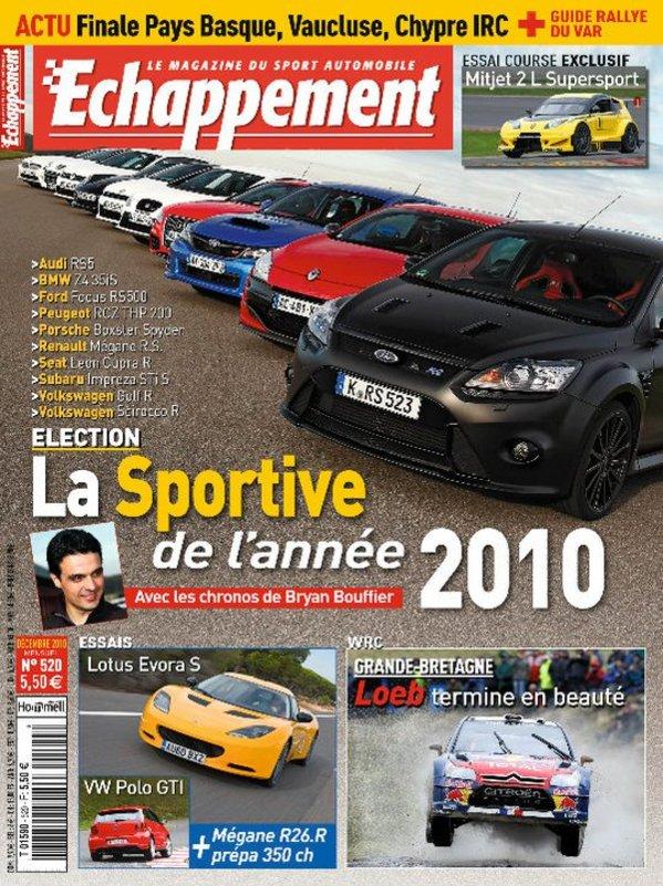 Sportive de l'année 2010 Echappement : victoire de la Ford Focus RS500