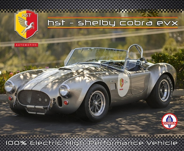 HST International/Tjaarda Design : HST Shelby Cobra EVX, une Cobra électrique !