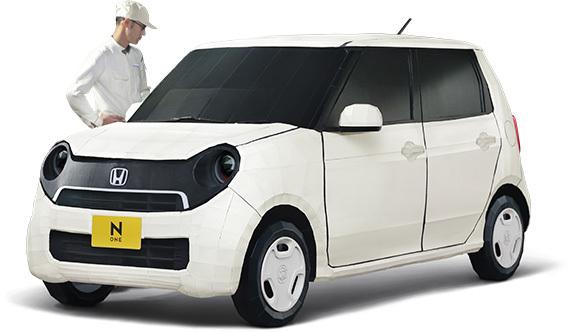 Une Honda N-One en kit et en carton échelle 1