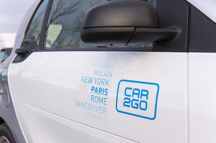Paris est la quatrième ville où car2go propose un parc uniquement électrique, après Amsterdam, Madrid et Stuttgart.