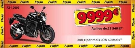 Baisse des tarifs sur 53 modèles Yamaha de la gamme 2008/2009