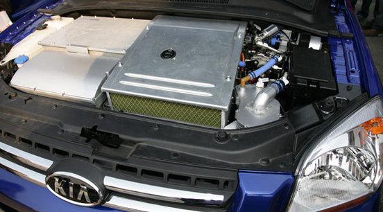Le prototype Kia Sportage FCEV à l'hydrogène