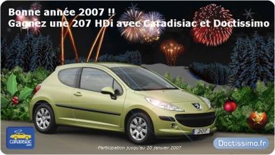 Concours : Une Peugeot 207 HDI à gagner avec Caradisiac et Doctissimo