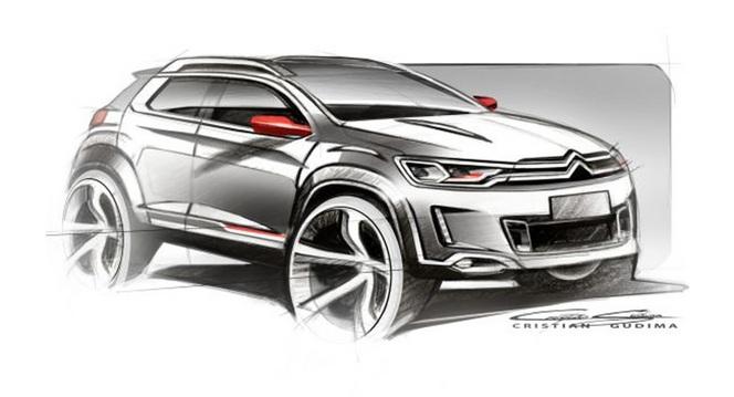 Pékin 2014 - Des esquisses d'un petit SUV Citroën encore mystérieux