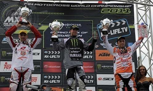 Motocross mondial : GP de Suède  MX 1, doublé  de Steven Frossard