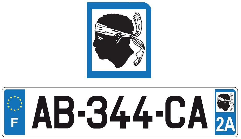 plaques d 39 immatriculation les conducteurs pl biscitent la corse. Black Bedroom Furniture Sets. Home Design Ideas