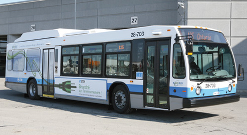 8 bus à propulsion hybride biodiesel-électrique en circulation !