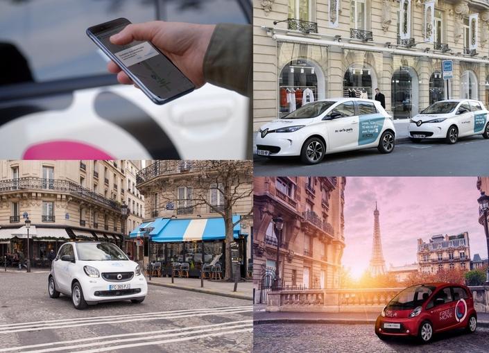 Plus de 1 400 voitures électriques sont actuellement disponibles à Paris, accessibles depuis de simples appli pour smartphone.