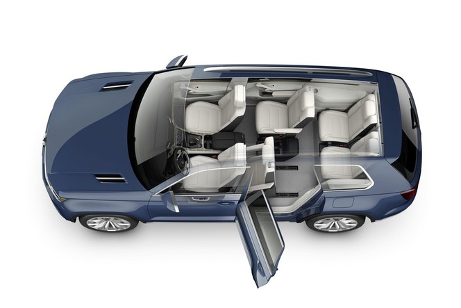 Detroit 2013 : VW CrossBlue concept, 7 places dans un Touareg