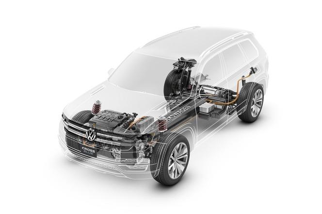 Detroit 2013 : VW CrossBlue concept, 7 places dans un Touareg