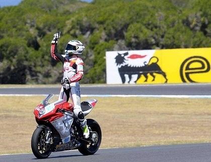 Supersport - MV Agusta: Jules Cluzel a succédé à Giacomo Agostini!