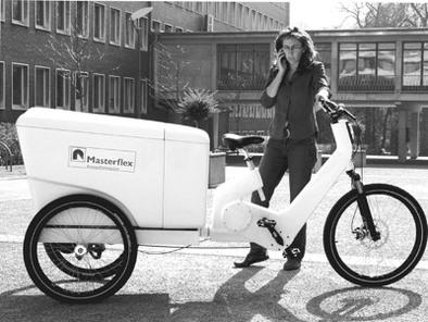 Deutsche Telekom teste 14 Cargobike Masterflex à l'hydrogène
