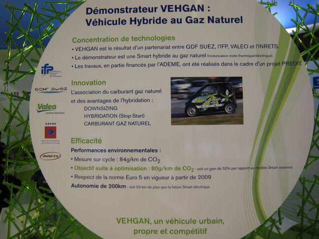 Une Smart au gaz naturel : le démonstrateur Vehgan