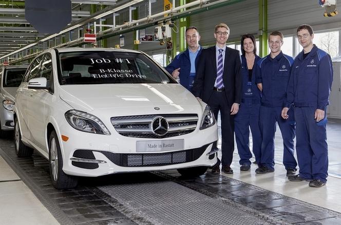 Mercedes lance la production de la Classe B électrique