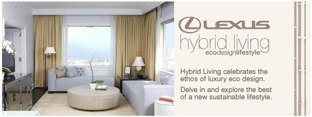 Lexus, partenaire d'hôtels : des suites Lexus hybrid living ecodesignlifestyle !