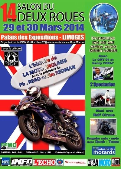 14ème Salon de la Moto de Limoges les 29 et 30 Mars: à nous les p'tites anglaises...