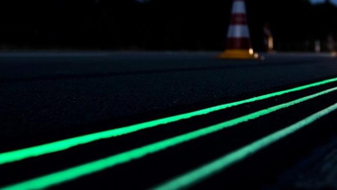 C'est pour bientôt : des marquages autoroutiers qui brillent la nuit