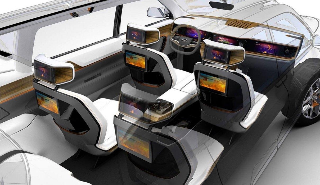 salon de shanghai 2017 premi res images du concept jeep yuntu. Black Bedroom Furniture Sets. Home Design Ideas