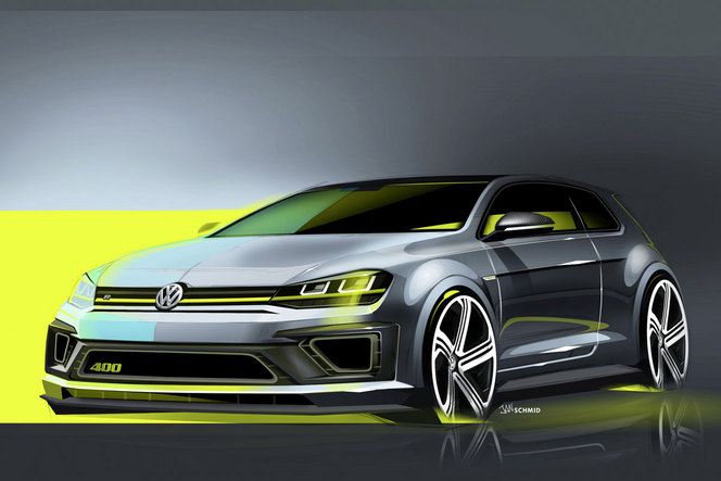 p kin 2014 volkswagen golf r400 studie 400 ch pour une golf. Black Bedroom Furniture Sets. Home Design Ideas