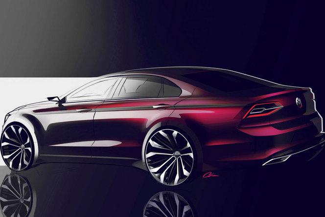 """Pékin 2014 - Volkswagen Coupé Studie: coupé 4 portes """"de poche"""""""