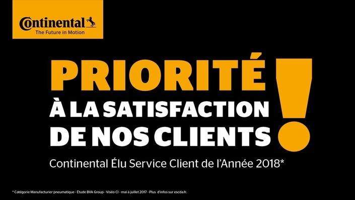 """Continental France élu """"Service Client de l'Année"""" dans sa catégorie"""