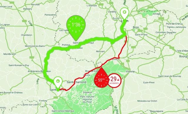 Sécurité routière: un nouveau site vous indique le trajet le moins dangereux
