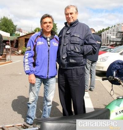 Biker's Classics 2010 à Spa-Francorchamps : le docteur Costa rend visite à ses anciens patients.