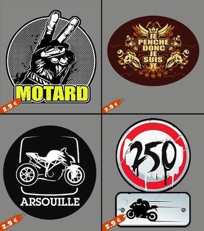 Idée cadeaux Gaaz.fr: stickers pour motards