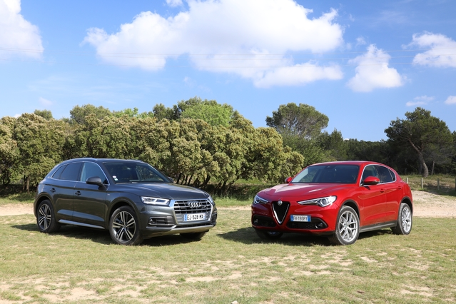 comparatif vid o alfa romeo stelvio vs audi q5 domination en question. Black Bedroom Furniture Sets. Home Design Ideas