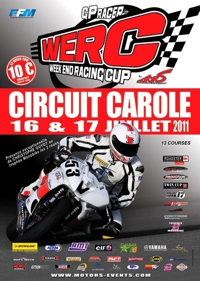 4ème étape des WERC ce week-end (16 et 17 juillet) sur le circuit Carole.