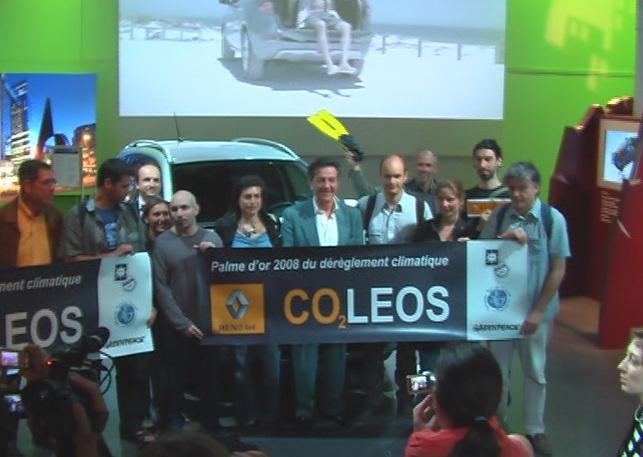 Le Renault Koleos reçoit la Palme d'or 2008 du dérèglement climatique