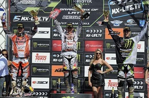 Motocross mondial : GP de Lettonie, MX 2 nouveau doublé pour Ken Roczen