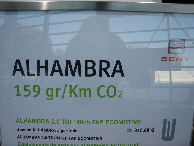 Le Seat Alhambra Ecomotive est moins polluant