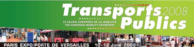Transports Publics 2008, le Salon européen de la mobilité, ouvre ses portes