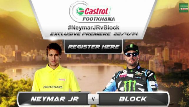 Ken Block se met au football avec Neymar
