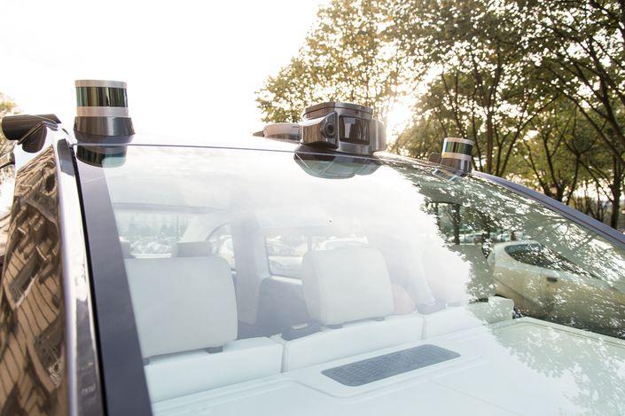 L'Autonom Cab intégre des technologies fournies par l'équipementier Valeo, actionnaire de Navya.