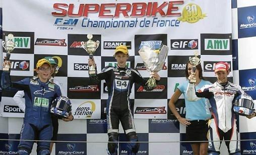 Championnat de France Superbike à Magny-Cours : 125, victoire de Jules Danilo