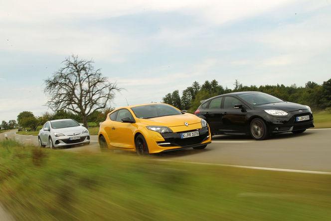 Opel Astra OPC vs Ford Focus ST vs Renault Megane R.S : les Allemands confirment la hiérarchie