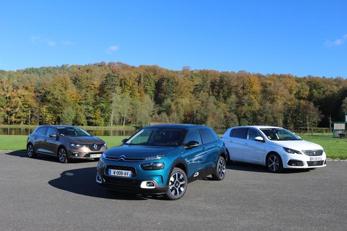 Comparatif statique vidéo : la Citroën C4 Cactus face aux Renault Mégane et Peugeot 308