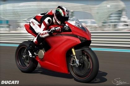 Concept - Ducati: une 1199 Panigale en mémoire de Valentino Rossi