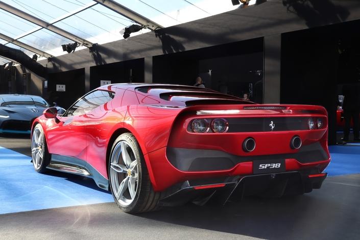 A découvrir à Paris, cette maquette à l'échelle 1 de la SP38 (pour Special project n°38), commande spéciale d'un client Ferrari.