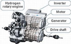 Essai routier autorisé pour la Mazda Premacy Hydrogen RE Hybrid