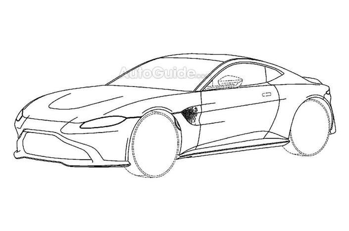 L'Aston Martin Vantage en fuite
