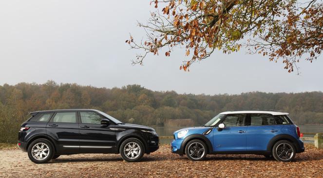 Comparatif Mini Countryman - Land Rover Range Rover Evoque : coup de coeur assuré