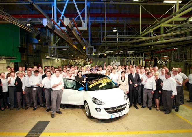 Usine Opel Eisenach : la 3 millionième était une Adam