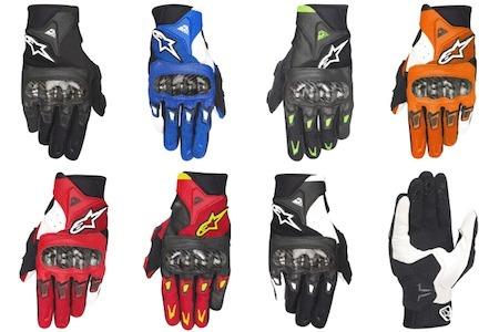Alinestars SMX-2 Air Carbon: cuir et textile pour les mains.