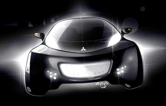 Salon de Genève 2009 : le Concept électrique Mitsubishi i MiEV Sport Air